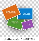 composite empty photo frame... | Shutterstock .eps vector #154103945