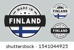 made in finland collection with ... | Shutterstock .eps vector #1541044925