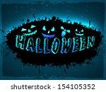 halloween party night poster ... | Shutterstock .eps vector #154105352
