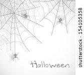 happy halloween poster  banner... | Shutterstock .eps vector #154105358