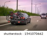 Car Transports Bicycles On A...