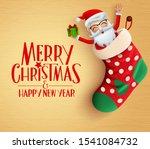 christmas santa sack hang...   Shutterstock .eps vector #1541084732
