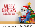 christmas greeting card with... | Shutterstock .eps vector #1541084735