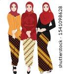girls wear kebaya and batik for ...   Shutterstock .eps vector #1541098628