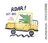 car and cute alligator vector... | Shutterstock .eps vector #1541143088