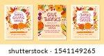 bundle of thanksgiving dinner... | Shutterstock .eps vector #1541149265