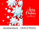snowflakes christmas design on... | Shutterstock .eps vector #1541170322