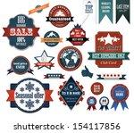 set of retro advertising labels.... | Shutterstock .eps vector #154117856