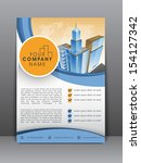 professional business flyer... | Shutterstock .eps vector #154127342