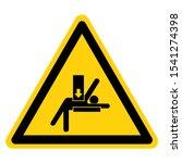 warning crush hazard stay clear ...   Shutterstock .eps vector #1541274398