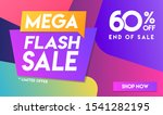 60 percent off mega flash sale... | Shutterstock .eps vector #1541282195