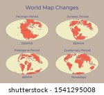 map of the world and changes in ...   Shutterstock .eps vector #1541295008