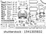 pen style handwritten icon set | Shutterstock .eps vector #1541305832