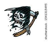 grim reaper horror halloween... | Shutterstock .eps vector #1541315495