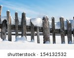 Slope Of An Old Fence In The...