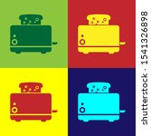 color toaster with toasts icon... | Shutterstock . vector #1541326898