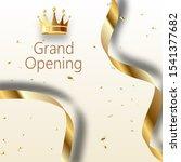 grand opening sparkling banner. ... | Shutterstock . vector #1541377682