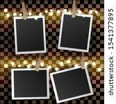 set of square photo frames on... | Shutterstock . vector #1541377895