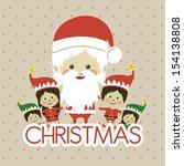 christmas design over dotted... | Shutterstock .eps vector #154138808