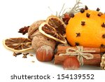 composition of christmas spices ... | Shutterstock . vector #154139552