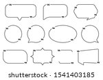 quote box frames set  speech... | Shutterstock .eps vector #1541403185