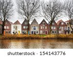 Edam Houses In Holland On The...