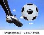 Soccer Player Doing Flying Kic...