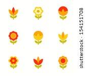 set of vector flowers | Shutterstock .eps vector #154151708