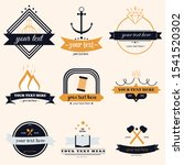collection of label's template. ... | Shutterstock .eps vector #1541520302