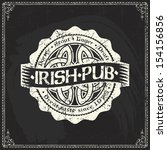 retro styled label of beer or ... | Shutterstock .eps vector #154156856