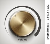 vector volume knob with gold...