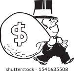 big bag of money   rich banker...   Shutterstock .eps vector #1541635508