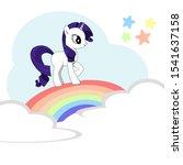 little cute hand drawn cartoon... | Shutterstock .eps vector #1541637158