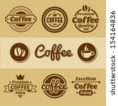 coffee labels and badges. | Shutterstock .eps vector #154164836