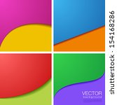 Vector Background abstract collection. 4 Colorful backgrounds. - stock vector