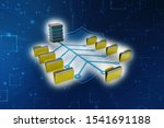computer network with data... | Shutterstock . vector #1541691188
