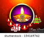 diwali background with gifts... | Shutterstock .eps vector #154169762