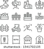 farming icons set vector... | Shutterstock .eps vector #1541702135