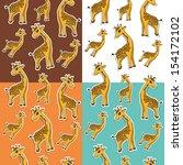 pattern with giraffe | Shutterstock .eps vector #154172102