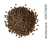 Black Pepper Seeds Pile From...