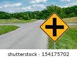 crossroads sign   a road sign... | Shutterstock . vector #154175702
