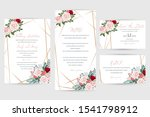 wedding invitation luxury... | Shutterstock .eps vector #1541798912