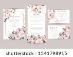 wedding invitation luxury... | Shutterstock .eps vector #1541798915