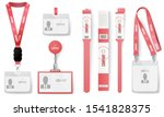 id cards badges. red... | Shutterstock .eps vector #1541828375
