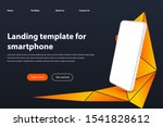 white smartphone landing page...