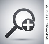 vector magnifier icon with plus ... | Shutterstock .eps vector #154183145