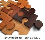 Stock photo wooden jigsaw puzzle 154184372