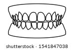healthy white teeth  tooth...   Shutterstock .eps vector #1541847038