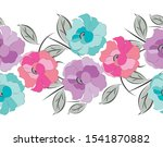 seamless fancy vector floral... | Shutterstock .eps vector #1541870882