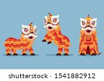 Traditional Chinese Lion Dance...